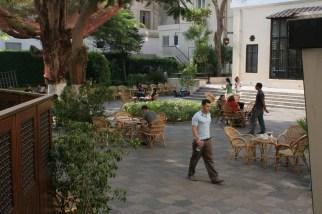 AUC fountain courtyard