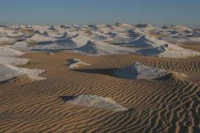 sand ripples and white
