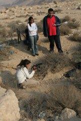 Noura, Dina, Badre at Wadi Degla