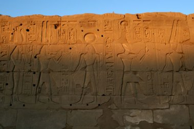 Karnak carvings sunset