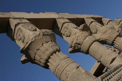 philae hathor columns