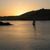 Aswan Sunset with Felucca