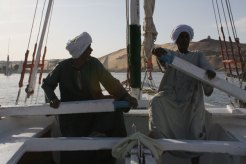 Rowing the Felucca