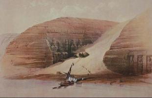 Roberts Sketch Abu Simbel