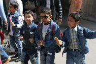 egyptian kids at citadel