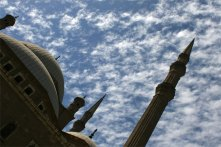 mohamed ali mosque tilted with clouds
