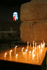 Candles on altar in Nebo
