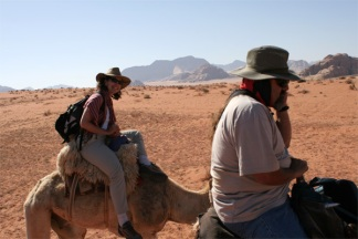 J and K on camels