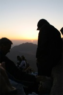 Sunrise with crowds on mt sinai