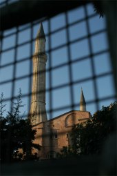 Haga Sofya through fence