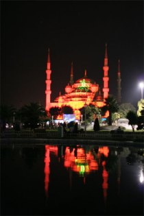 Blue Mosque Light Show