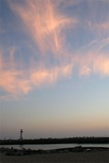 clouds sunset santa cruz with lighthouse