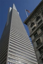 Transamerica with old building in foreground
