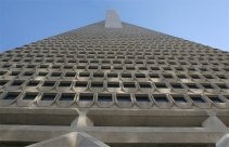 Transamerica pyramid extreme angle looking up