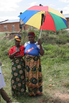 Bubera woman with umbrella