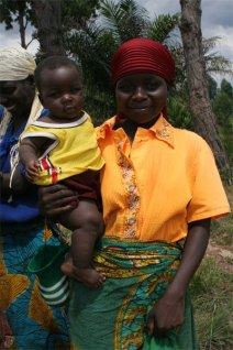 Burera woman and child