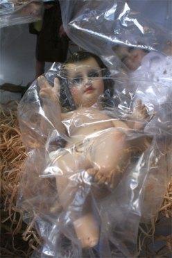 Jesus in the plastic bubble