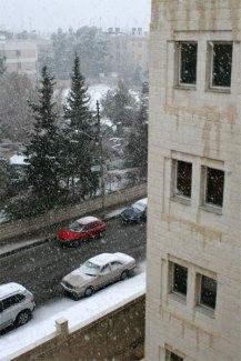 Snow in Amman