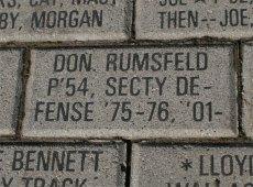 Rumsfeld brick