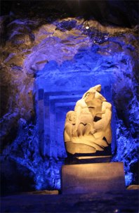 Pieta wide show in salt cathedral