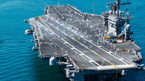 Overhead shot of the USS Nimitz