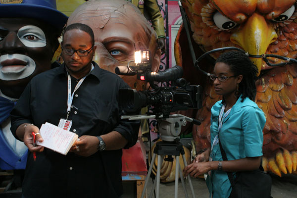 Sha\'Day Jackson and Gregory Brand shoot in Mardi Gras World