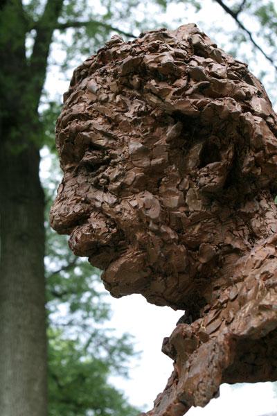 Einstein bust profile