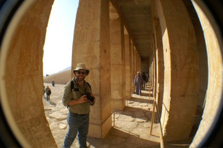 Craig at ruins near Luxor