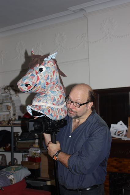 Craig with Hobby Horse Head