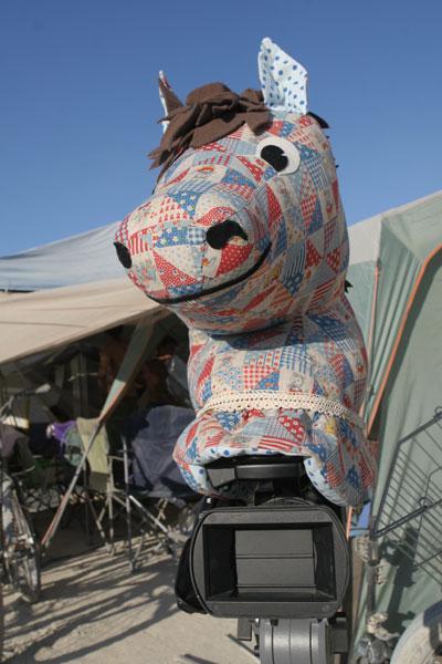 Burning Man Horse