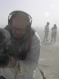 craig at Burning Man in the dust