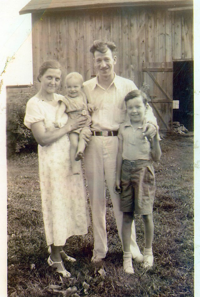Lillian and Craig Duff with baby Willard Duff and cousin Eddie, circa 1937
