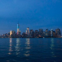The NYC skyline from the harbor