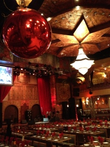 The Alhambra restaurant before the arrival of the audience to see Palestinian singer Mohammed Assaf, winner of Arab Idol