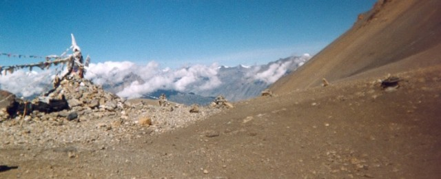 The highest point of the Thorong-La pass, at 5,616 meters