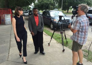 Campbell Brown talks to Jamal Preston, a recent graduate of the Dr. King Charter School in New Orleans.
